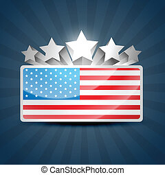 american flag - vector american flag design with stars