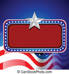american independence day - vector american flag design with...