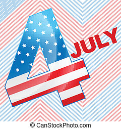 4th of july design - vector 4th of july design background