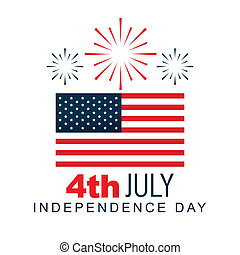 4th of july design - american 4th of july vector design