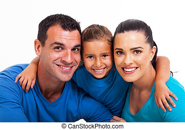 happy family close up