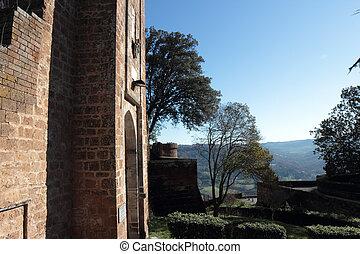 Albornoz Rocca in Orvieto - the entrance of Albornoz Rocca...