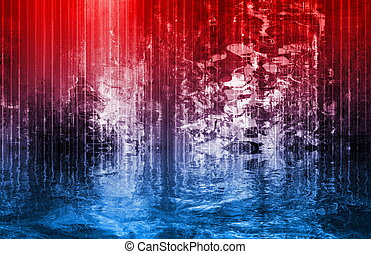 Hot to Cold Abstract Background Art Illustration