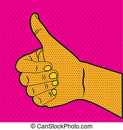 comics ok icon over doted orange background vector...