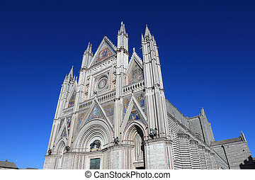 Orvieto Cathedral - wide angle view of the famous Cathedral...