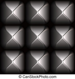 Futuristic Sleek Metal Stud Grid