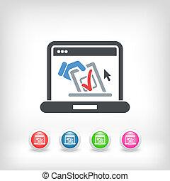 Vote web concept