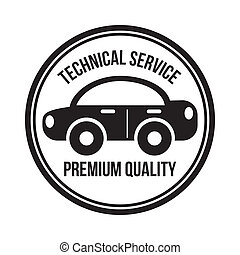 technical service seal over white background vector...