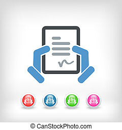 Document signature icon