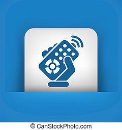 Remote control icon - Remote control concept icon