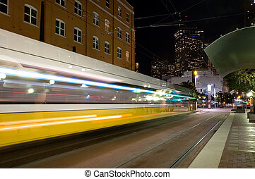 DART train - DART - Dallas public transportation streetcar...