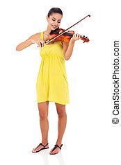 woman playing violin - beautiful woman playing violin...