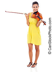 musician with a violin - beautiful musician with violin on...