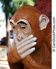 Thai sculpture of monkey gag