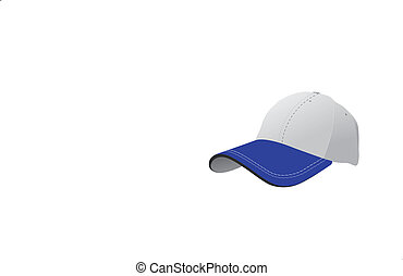 blue caps on white background