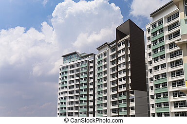 Apartment Building - A new apartment building in residential...