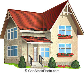 Illustration of house - Vector Illustration of ? house with...