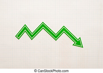 chart arrow on graph paper