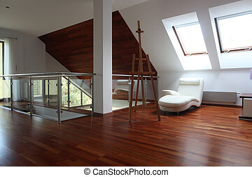 Artist apartment - Contemporary artist apartment with easel...