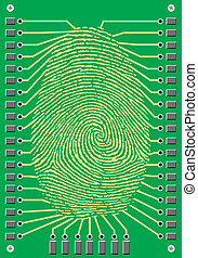 cyber finger print - nice cyber finger print on the green...