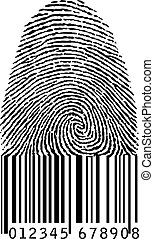 finger print as barcode