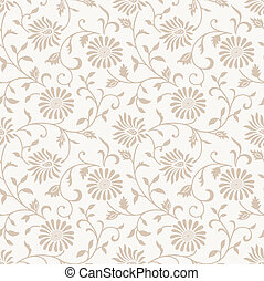 Floral seamless vector background