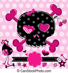 cute black and red skull - cute aggressive girlish black and...