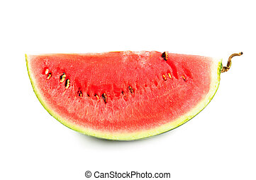 Water melon - Slice of fresh water melon, isolated on white