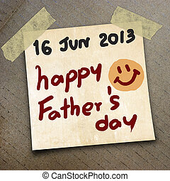 packing paper - father's day 16 June 2013 draw on the...