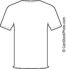 back t-shirt vector - back side of white t-shirt isolate on...