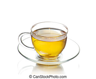 tea cup isolated on white