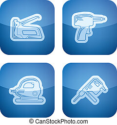 Construction site tools - 4 icons from Construction Industry...