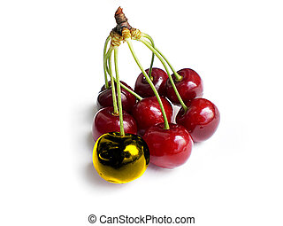 unique cherry being different from the group