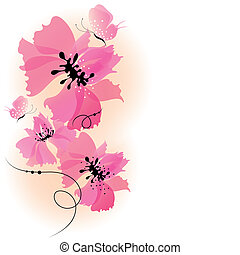 flowers design vector - it is done in the program...