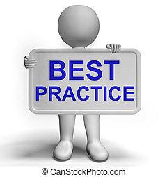 mejor, práctica, señal, actuación,...