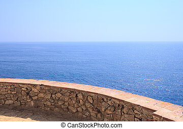 View on sea at Costa Brava, Spain