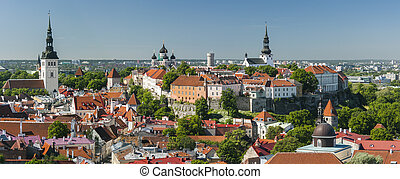 The Old Town of Tallinn, Estonia - Panorama of the Old Town...