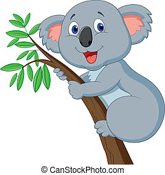 Cute koala cartoon - Vector illustration of Cute koala...