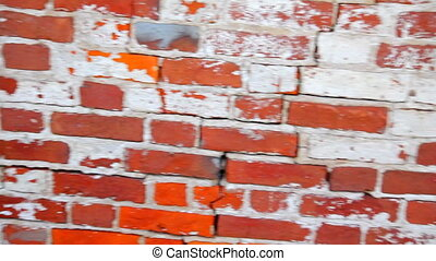 Red brick wall - red brick wall close up