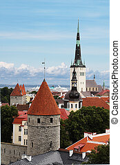 View on St. Olaf's Church in Tallinn - View on St. Olaf's...