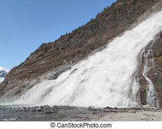 Nugget Falls at Juneau Alaska