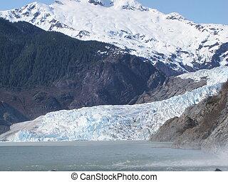Mendenhall Glacier Juneau Alaska - Mendenhall Glacier near...