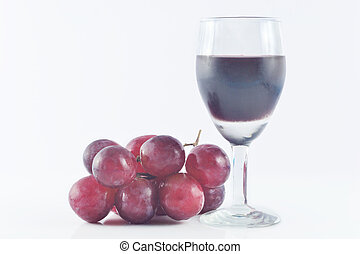 Grape juice - Red grape juice with white background