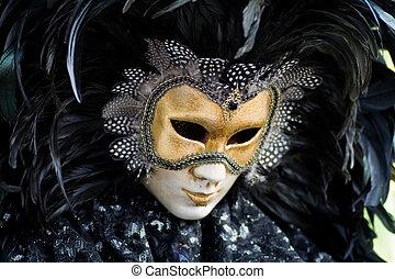 Venice carnival costume mask - Carnival in venice with model...