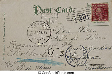 Vintage postcard of 1909 - THE NETHERLANDS-CIRCA 1909:...