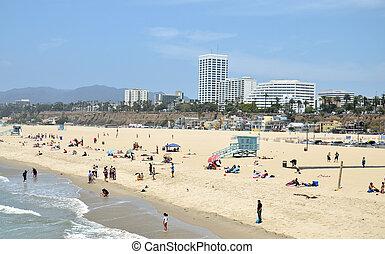 Santa Monica Beach - Beach in Santa Monica, California, USA