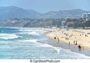 Santa Monica Beach - Beach in Santa Monica, California, USA