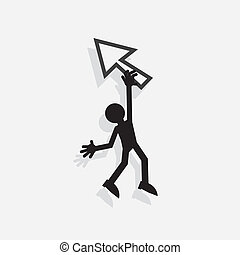Figure Hanging From Pointer