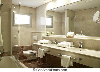 Bathroom at Hotel Suite - Bathroom at modern luxury Hotel...