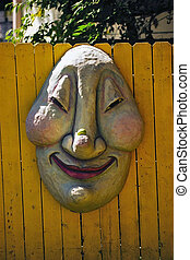 Happy Face - Happy face on a fence at a renaissance festival